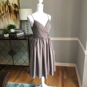 Banana Republic pleated grey dress